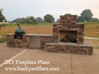 Outdoor Fireplace with smoker