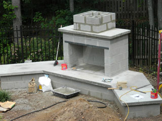 Georgia Preferred Builder on Building Outdoor Fireplace With Cinder Block id=82568
